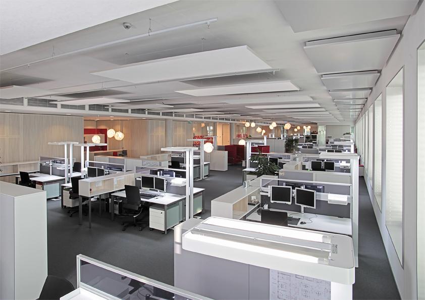 Akustisch optimiertes Büro
