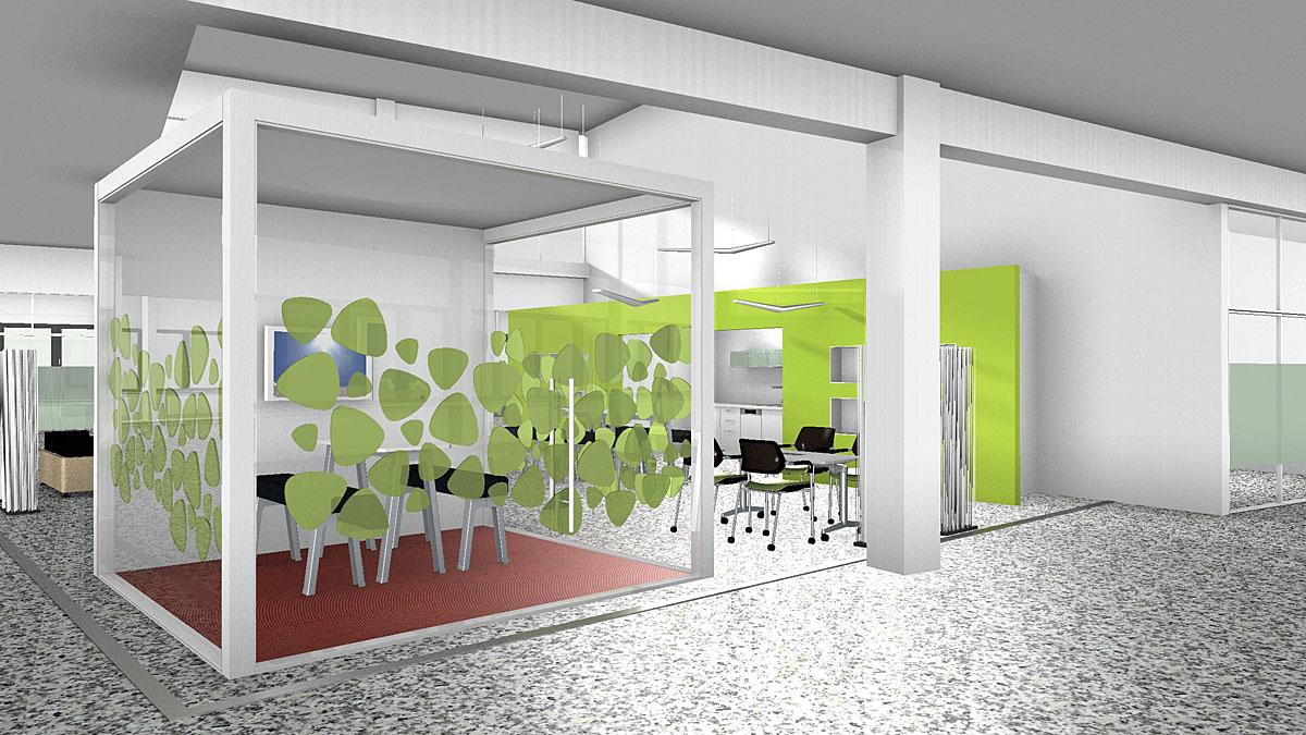 Virtuelle Abbildung eines Büros