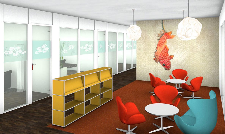Design- und Themenplanung eines Aufenthaltsbereiches