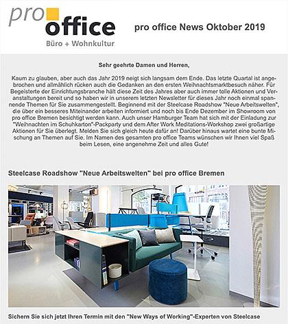 pro office News Oktober 2019
