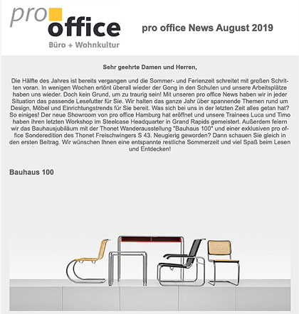 pro office News August 2019