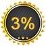 3% Rabatt bei Zahlung per Überweisung, Paypal oder Kreditkarte