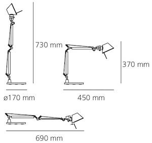 Artemide Tolomeo Micro Maße