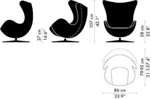 Fritz Hansen Egg Chair Maße