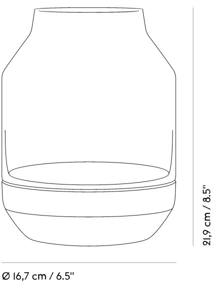 Elevated Vase Maße
