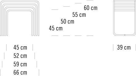 Maße Beistelltisch B9
