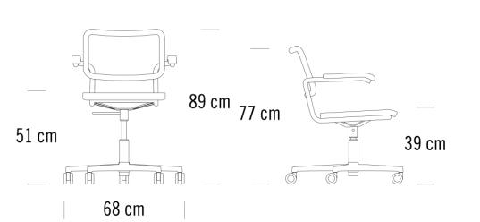Maße Thonet S64 VDR