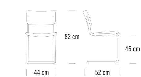 Thonet S43 Maße