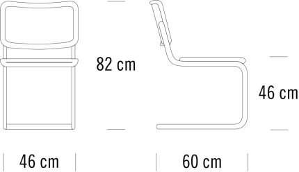 Thonet S32 Maße