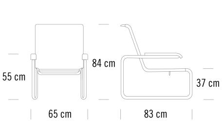 Maße Thonet S 35