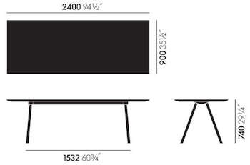 Dimensions Vitra A-Table