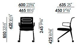 Vitra AC 5 Swift Maße