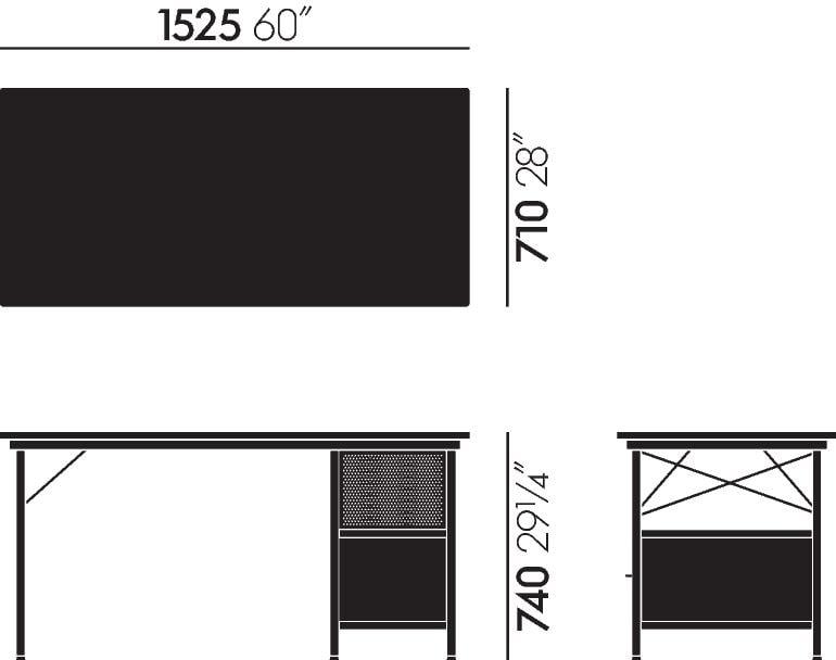 Maße Eames Desk