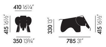 Maße Eames Elephant