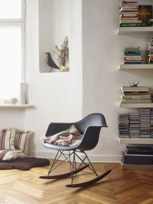 Black RAR Eames Plastic Armchair