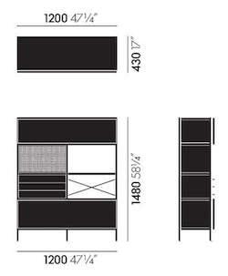 Eames Storage Unit Maße
