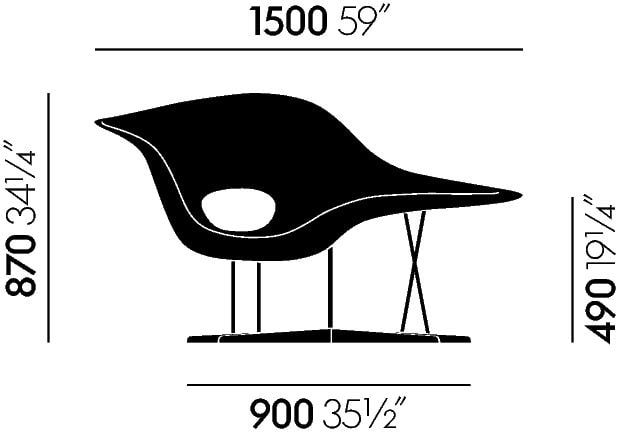 Dimensions vitra La Chaise