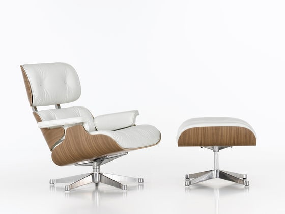 vitra Lounge Chair white mit Ottoman