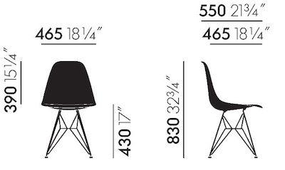 Maße Eames Fiberglass DSR