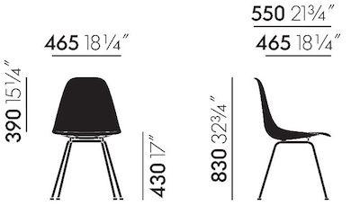 Maße Eames Fiberglass DSX