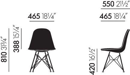 vitra dsr eames plastic side chair design charles und ray eames. Black Bedroom Furniture Sets. Home Design Ideas