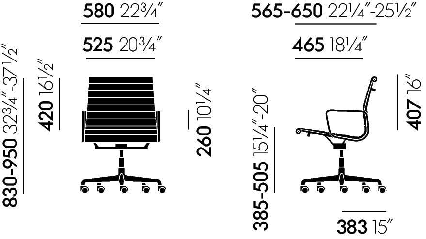 Maße Eames EA119