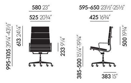 Maße Vitra EA 219