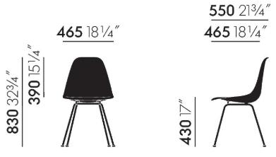 Maße Eames DSX