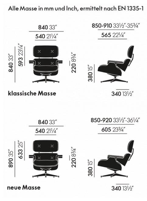 Maße Lounge Chair weiß