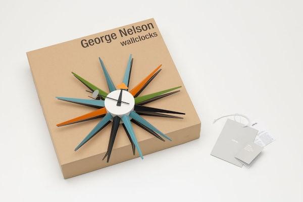 Vitra Sunburst Clock mehrfarbig