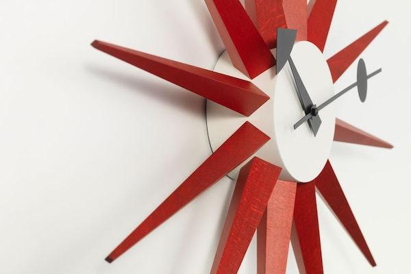 Vitra Sunburst Clock rot