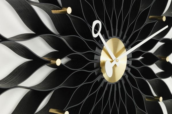 Sunflower Clock ash black