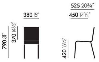 Maße Vitra 03 Stuhl