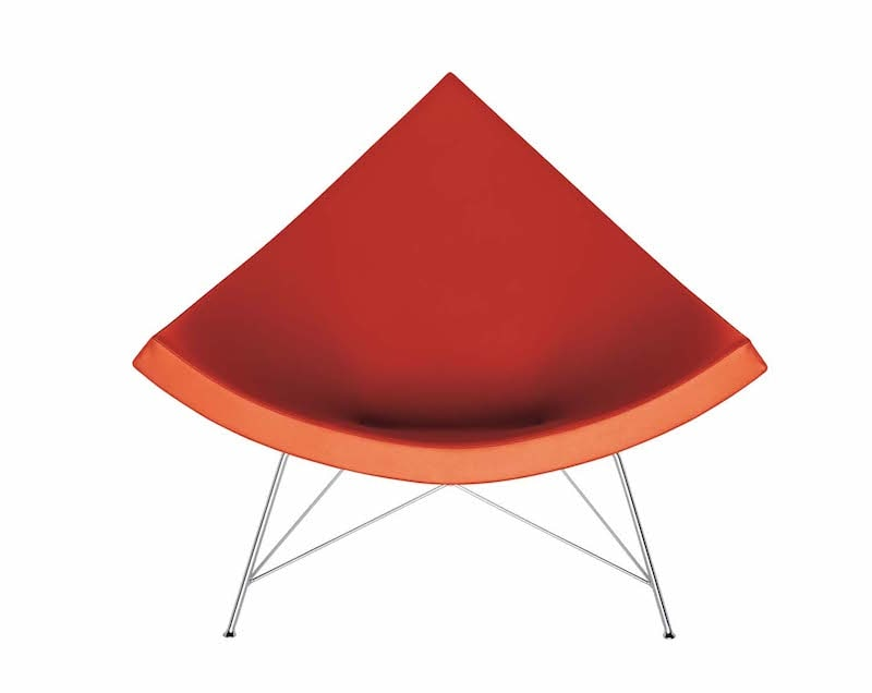 Vitra Coconut Chair in rot