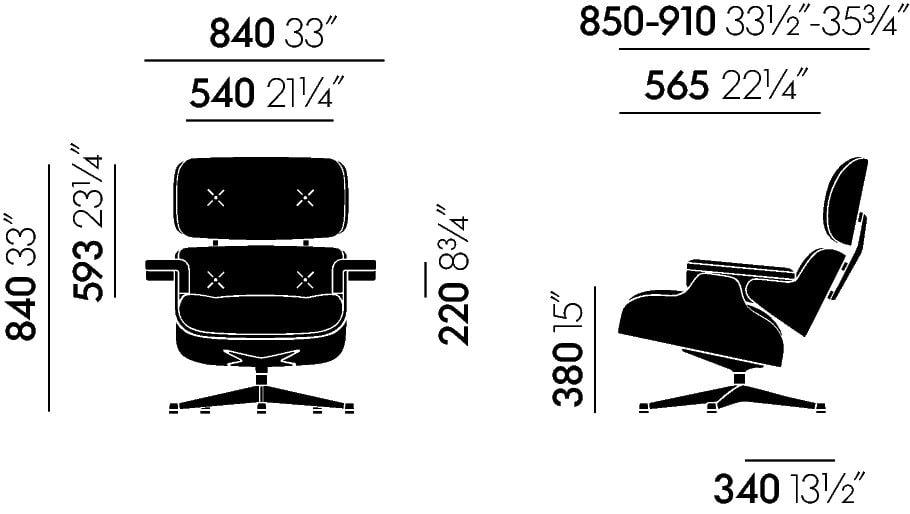 Klassische Maße Lounge Chair