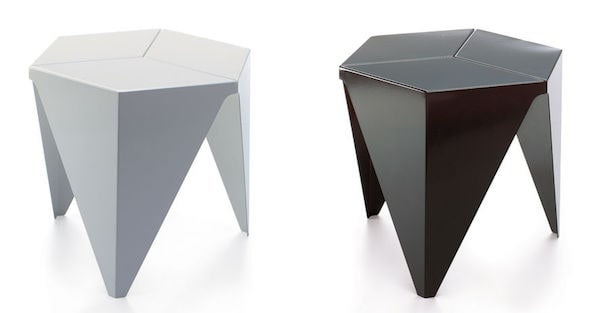 noguchi prismatic table three legged side table. Black Bedroom Furniture Sets. Home Design Ideas