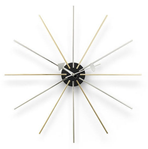 Vitra Star Clock Chrom Messing, George Nelson, 1948/60