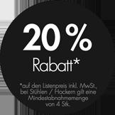 20% Nachlass auf THONET Möbel