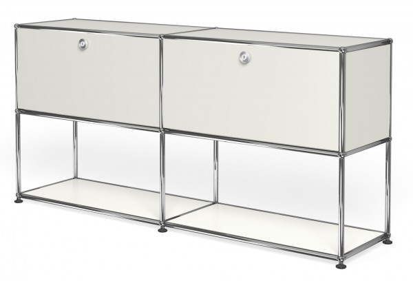 usm haller sideboard mit 2 klappt ren oben im pro office shop. Black Bedroom Furniture Sets. Home Design Ideas
