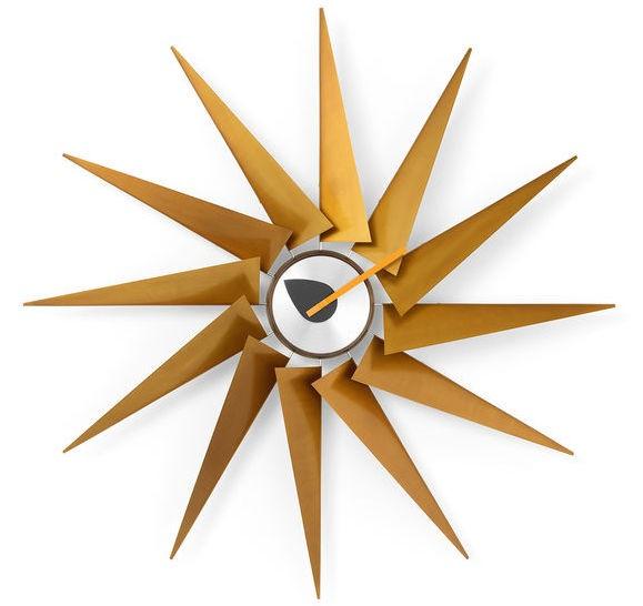 Vitra Turbine Clock Messing/Aluminium, George Nelson, 1948/60