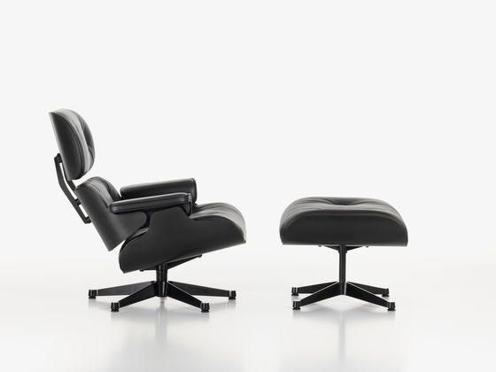 Vitra Lounge Chair Und Ottoman Black