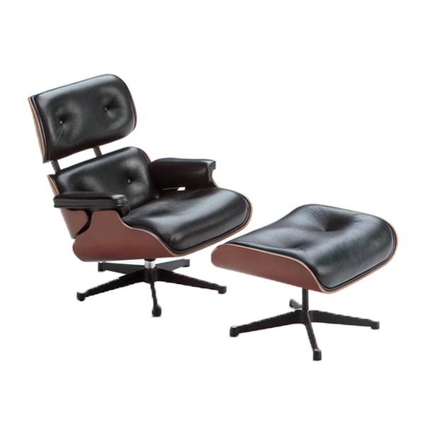 Vitra Miniatur Lounge Chair mit Ottoman