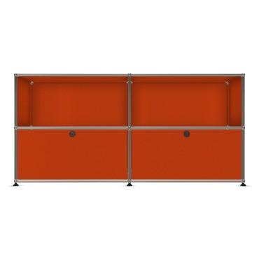 USM Haller Sideboard Orange mit Klapptüren