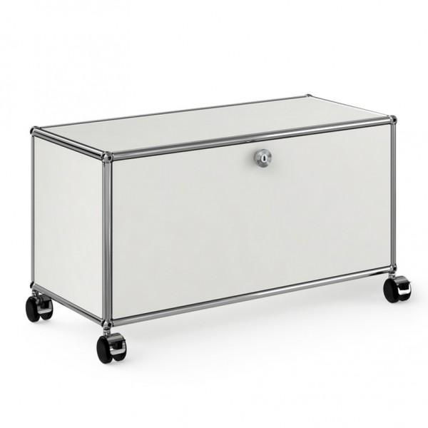 USM Lowboard, 1 Element, frei konfigurierbare Klappe, Auszug und Schublade