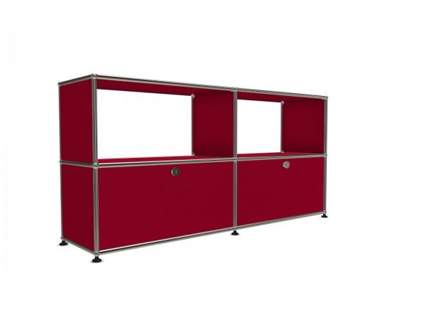 USM Haller Sideboard rot mit Auszugstüren