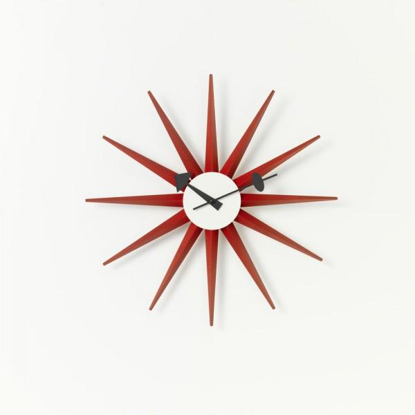 Vitra Sunburst Clock rot, George Nelson, 1948/60