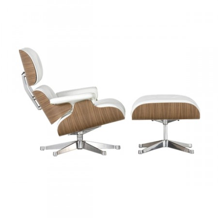 Vitra Lounge Chair mit Ottoman white