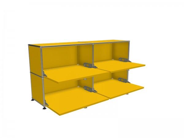 USM Haller Sideboard gelb 4 Klapptüren