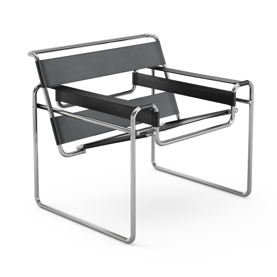knoll international wassily sessel design marcel breuer. Black Bedroom Furniture Sets. Home Design Ideas