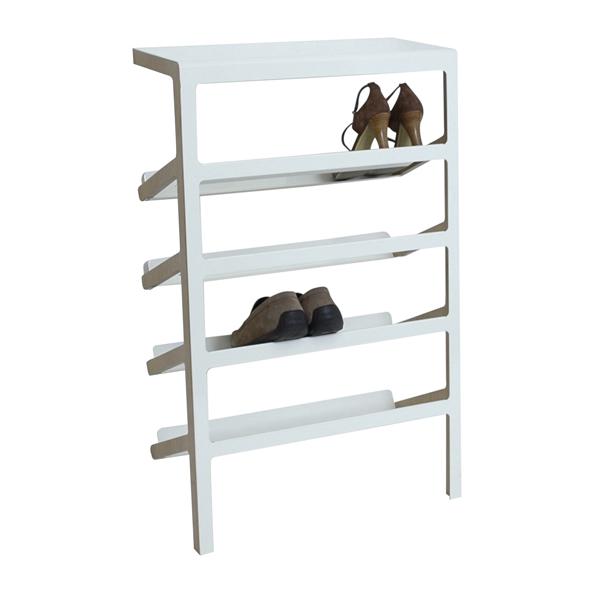 mox schuhregal mila holz und metall zum anlehnen an die wand. Black Bedroom Furniture Sets. Home Design Ideas